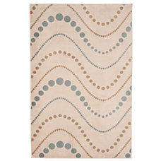 Lavish Home Area Rug Modern Waves
