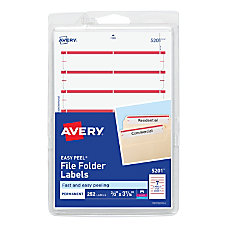 Avery Print Or Write Color Permanent