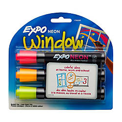 EXPO Neon Dry Erase Markers Assorted