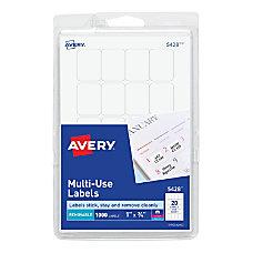 Avery Removable InkjetLaser Multipurpose Labels 34
