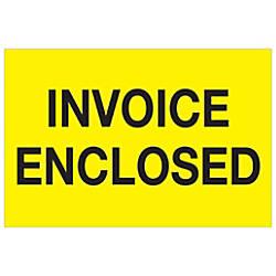 Tape Logic Preprinted Labels Invoice Enclosed