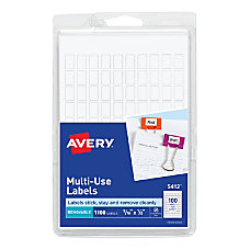 Avery Removable InkjetLaser Multipurpose Labels 516