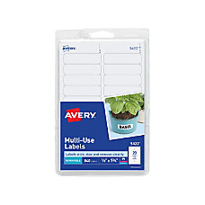 Avery Removable InkjetLaser Multipurpose Labels 12