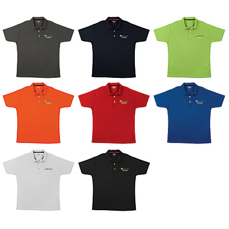 Screened Performance Polo Shirt By Office Depot Officemax