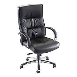 Lorell Bridgemill Executive Leather Swivel Chair