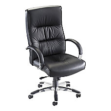 Lorell Bridgemill Executive Leather Swivel Chair