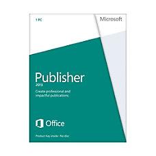 Microsoft Office Publisher 2013 Spanish Version