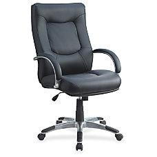 Lorell Stonebridge Executive Leather Swivel Chair