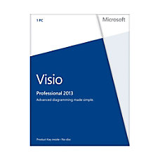 Microsoft Office Visio Professional 2013 English