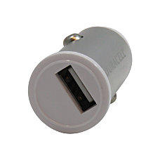 Duracell Mini USB Car Charger White