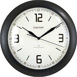 FirsTime Linen Whisper Round Wall Clock