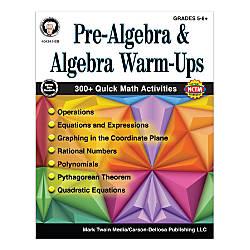 Mark Twain Media Pre Algebra And