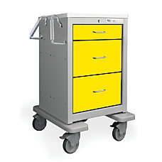 Medline 3 Drawer General Cart 36