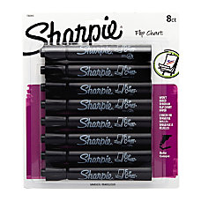 Sharpie Flip Chart Markers Black Pack