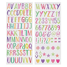 Divoga Sticker Sheets Watercolor Letters Pack