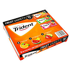 Trident Sugar Free Fruit Gum Box