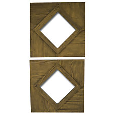 PTM Images Framed Mirror Rhombus S2