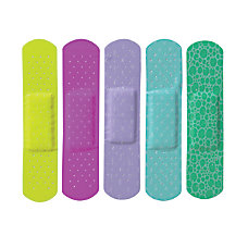CURAD Neon Adhesive Bandages Assorted Colors
