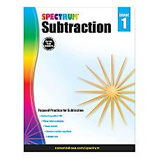 Spectrum Subtraction Workbook Grade 1