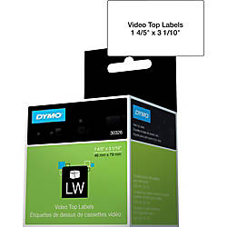 Dymo LabelWriter Video Spine Labels 180