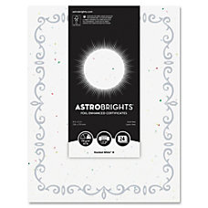 Astrobrights Foil Enhanced Certificates Vine Design