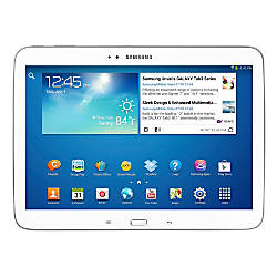 "Samsung Galaxy Tab® 3 Tablet With Intel® Atom™ Processor & 10.1"" Screen, White"