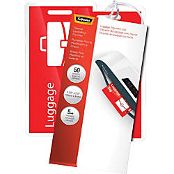 Fellowes Luggage Tag With Loop Pouches
