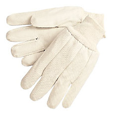 12 OZ CANVAS GLOVES WKNIT WRIST