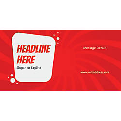 Custom Horizontal Banner Red Spin Wave