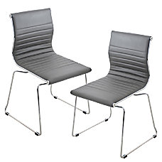 Lumisource Master Chair GrayStainless Steel Set