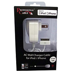 Professional Cable Wall Charger for iPodiPadiPhone