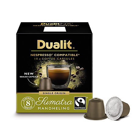 dualit and nespresso compatible coffee nx capsules sumatra mandhling espresso 7 oz pack of 60 by. Black Bedroom Furniture Sets. Home Design Ideas