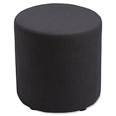 Lorell Cylinder Ottoman Black