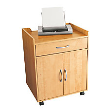 OfficeMax Mobile Printer Cart Oak