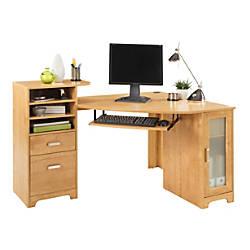 bradford corner desk oak by office depot officemax