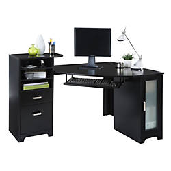 bradford corner desk black item 1210321 officemax 22523459