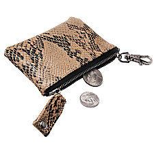 ie Animal Print Coin Pouch Snake