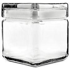 Office Settings Clear Glass Jar 1