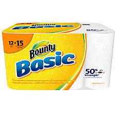 Bounty Basic 1 Ply Paper Towels