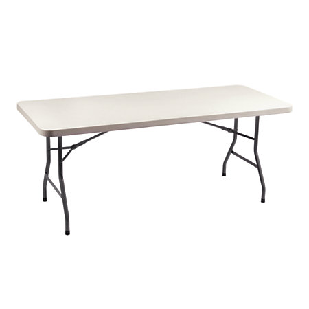 Realspace folding table 60 w x 30 d white by office depot for Office depot folding tables