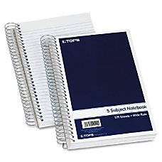 TOPS 5 Subject Wirebound Notebook 175