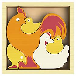 BeginAgain Toys Chicken Family Puzzle ThemeSubject