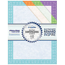 Geographics Certificates 8 12 x 11