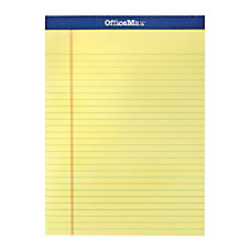 OfficeMax Legal Pad 8 12 x