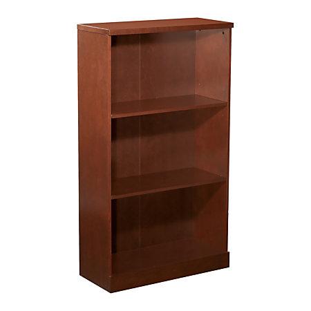 Officemax Premium Mahogany 3 Shelf Bookcase