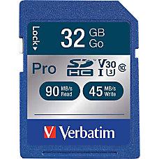 Verbatim 32GB Pro 600X SDHC Memory