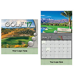 Golf Spiral 13 Month Wall Calendar