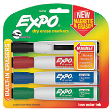 EXPO Magnetic Dry Erase Markers With