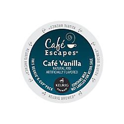 Caf Escapes Caf Vanilla K Cup