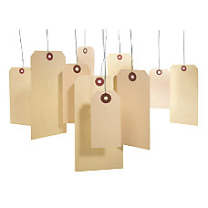 Maco Manila Shipping Tags With Wire